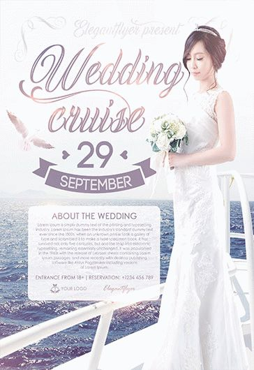 Wedding Cruise – Flyer PSD Template