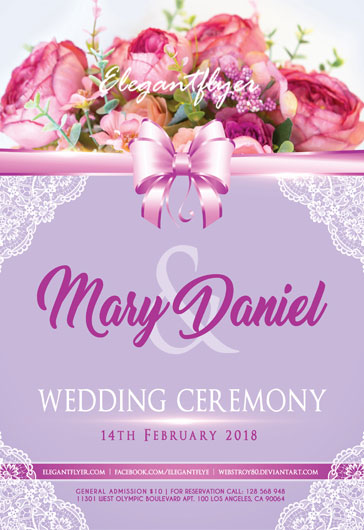 Wedding Flowers Ceremony PSD Template