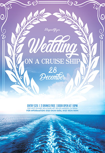Wedding on a Cruise ship – Flyer PSD Template