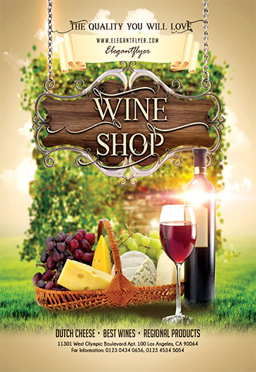Wine shop flyer psd template by elegantflyer maxwellsz