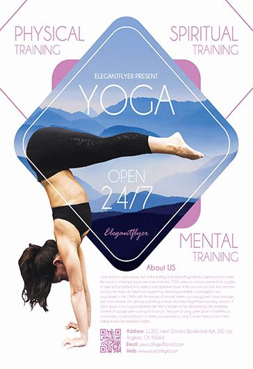 Yoga Poses Training PSD Poster – by ElegantFlyer