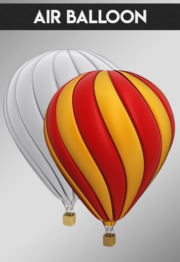 Air Balloon – Free 3d Render Templates