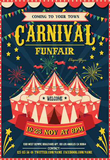 carnival flyer psd template by elegantflyer