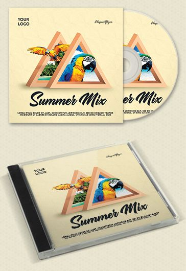 Summer Party – Premium CD Cover PSD Template