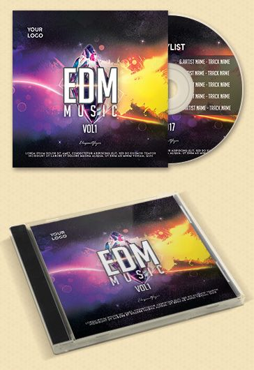 Progressive House CD Cover Template