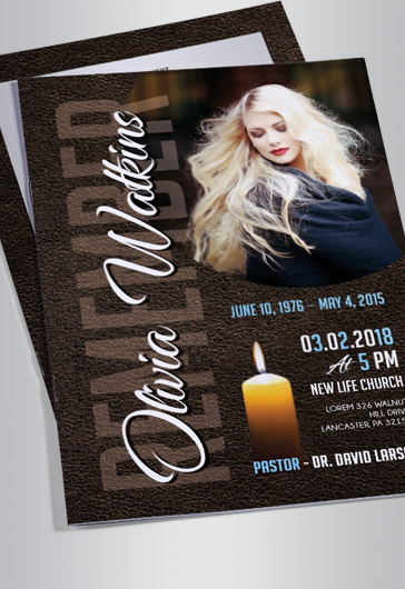 Free Editable Funeral Program Templates For Photoshop  By Elegantflyer