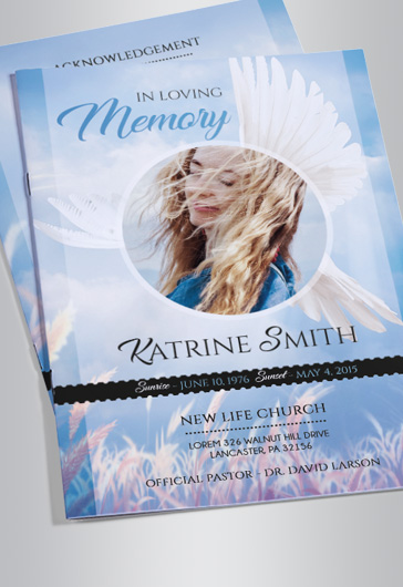 Free funeral bi fold brochure by elegantflyer for Funeral leaflet template free