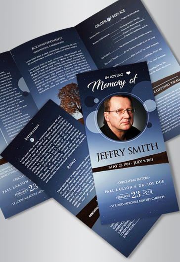Free Funeral Program Templates By ElegantFlyer - Funeral brochure templates free