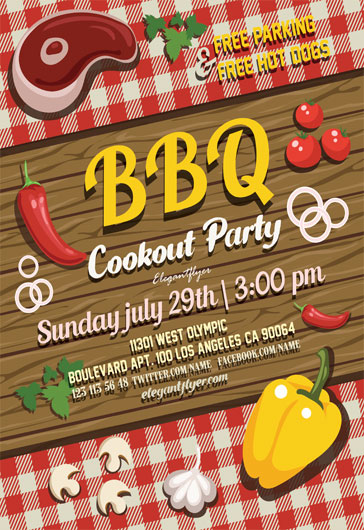 Free Summer BBQ Party Flyer
