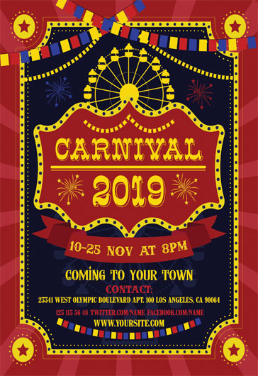 carnival free flyer template  u2013 by elegantflyer