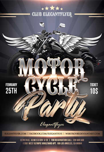 Motorcycle party – Flyer PSD Template