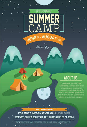 Scout Camp Flyer Template  By Elegantflyer