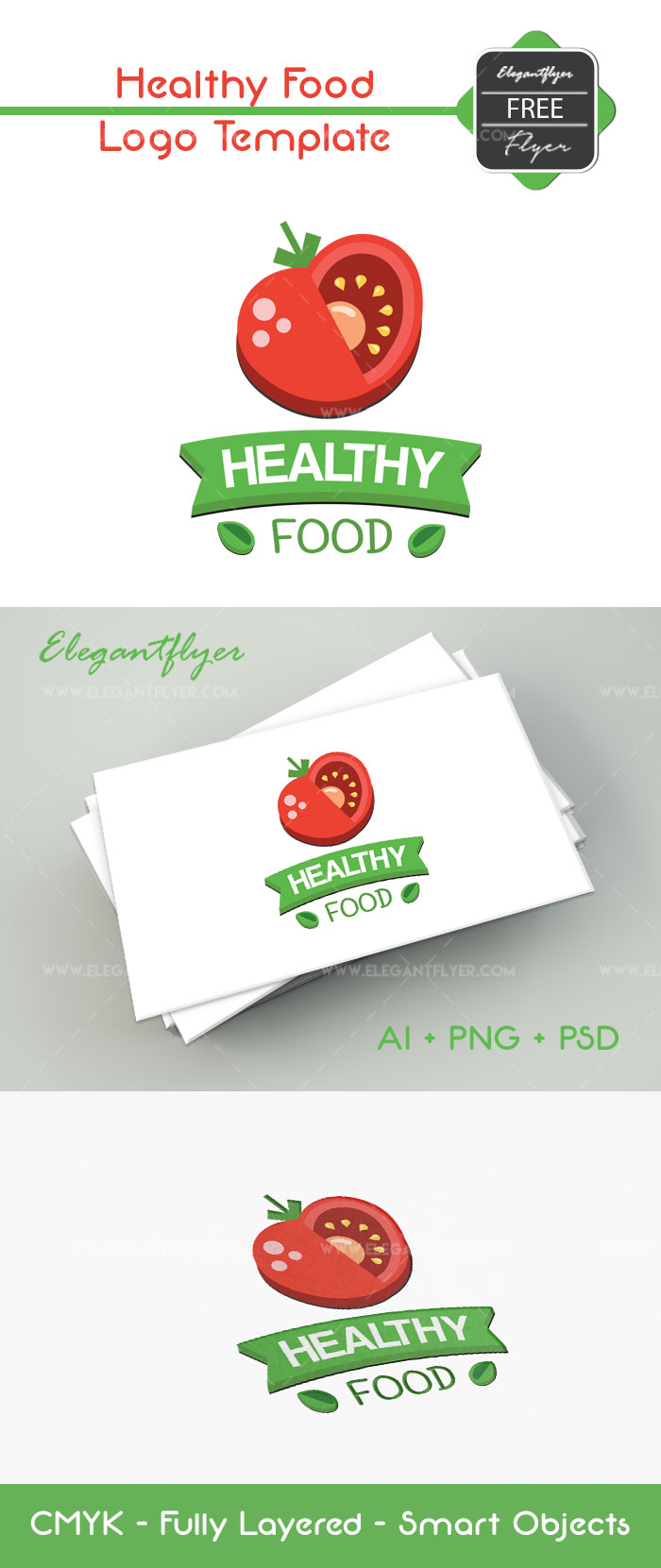 Healthy Food – Free Logo Template