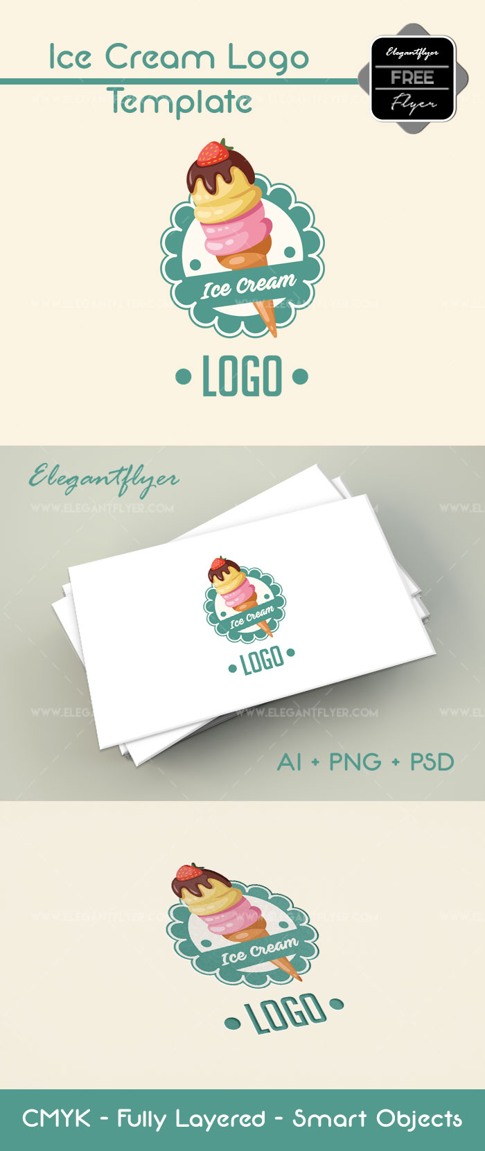 Ice Cream – Free Logo Template
