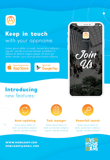 Free Mobile App Template