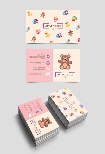 Toy Shop – Free Business Card Templates PSD