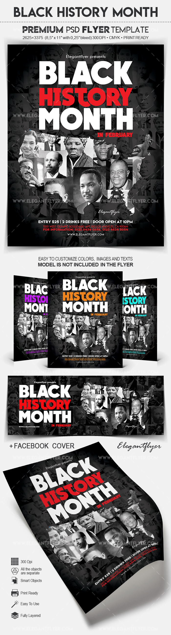 Black History Month – Flyer PSD Template