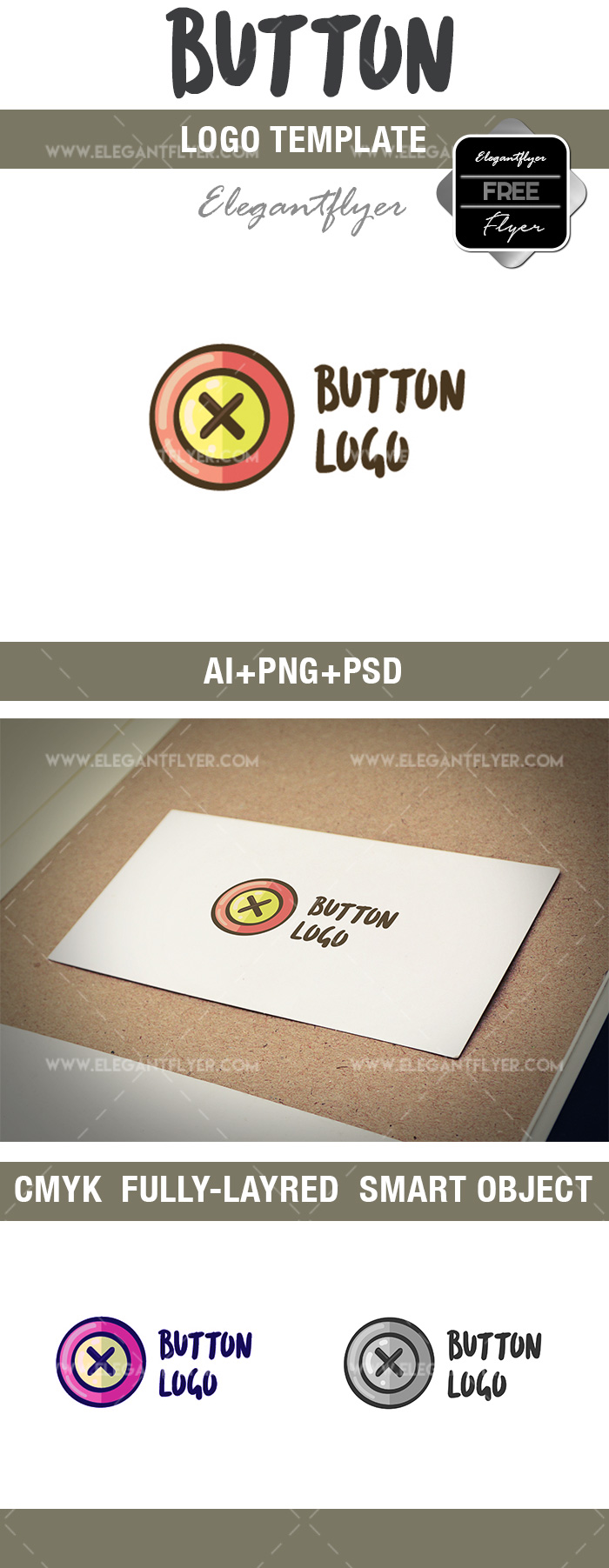 Button – Free Logo Template