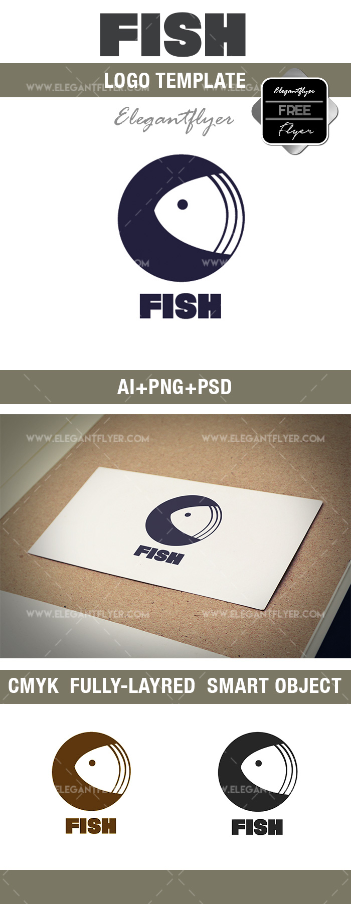 Free Big Fish Logo Template