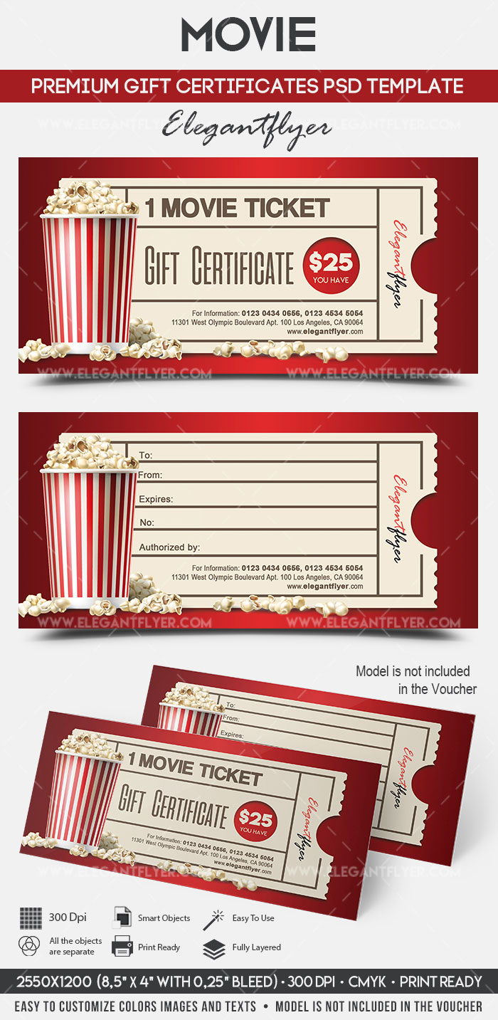 Movie Gift Certificate Psd Printable By Elegantflyer