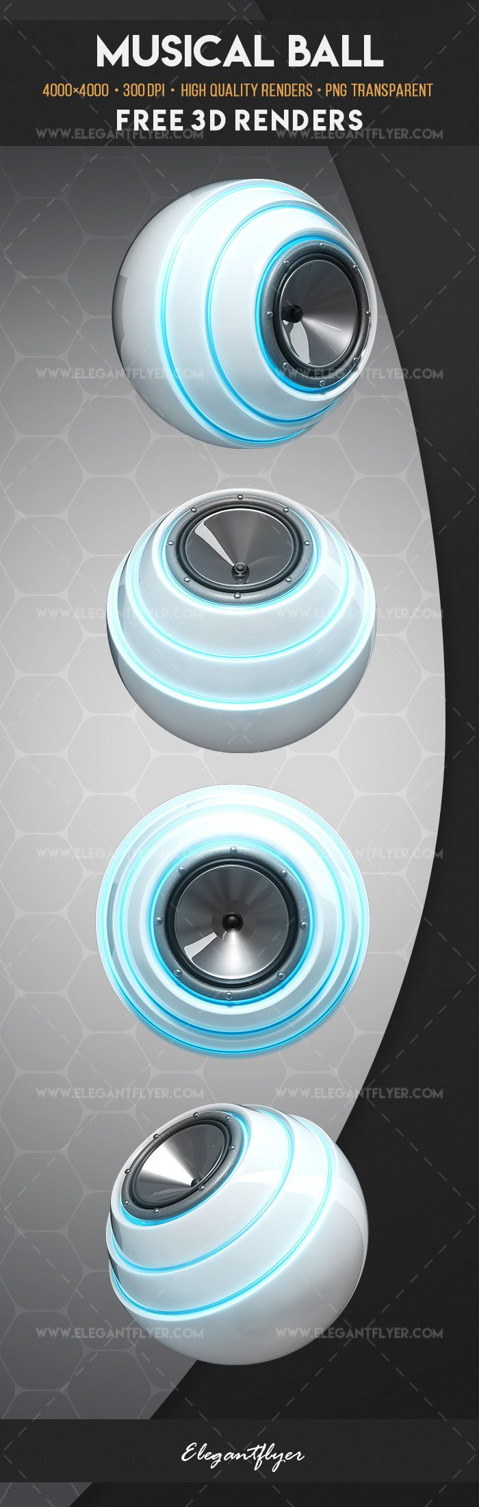 Music Ball – Free 3d Render Templates