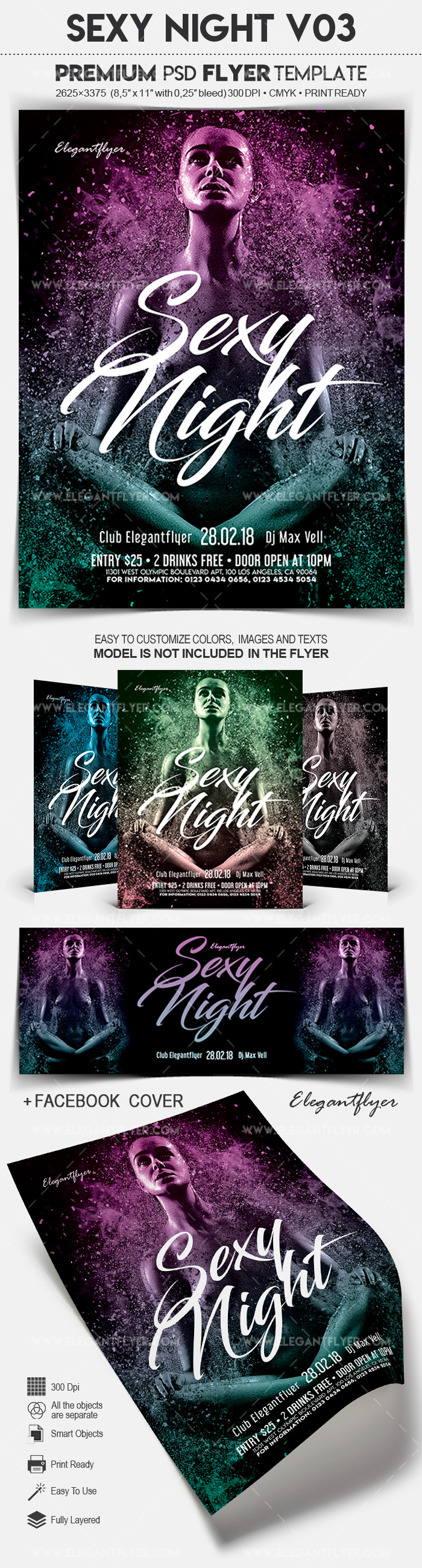 Sexy Night V03 – Flyer PSD Template