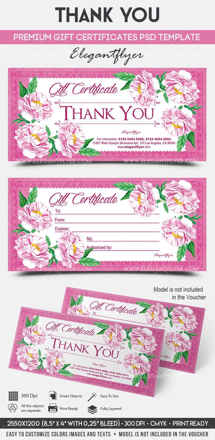 Thank You – Premium Gift Certificate PSD Template