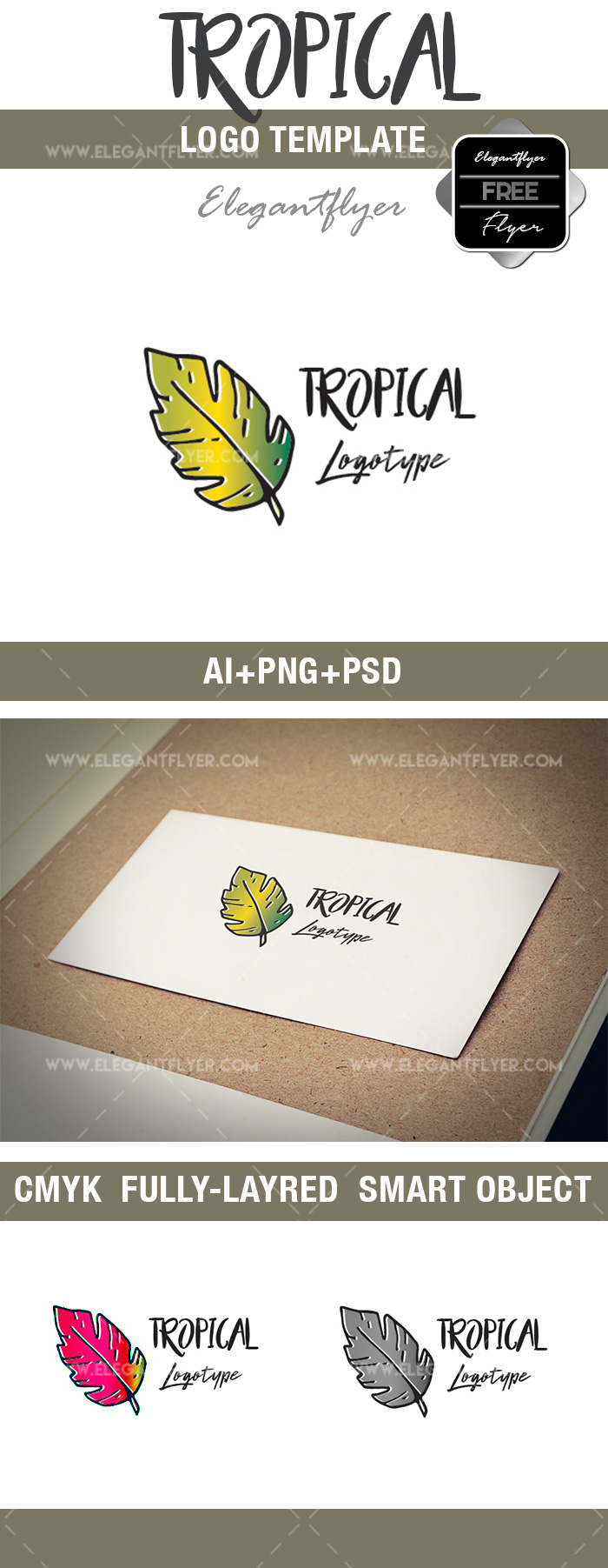 Tropical – Free Logo Template