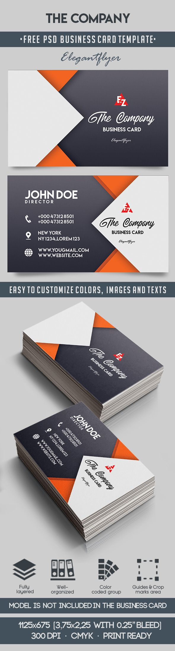 The Company – Free Business Card Templates PSD