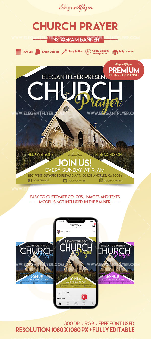 Church Prayer – Premium Instagram Banner