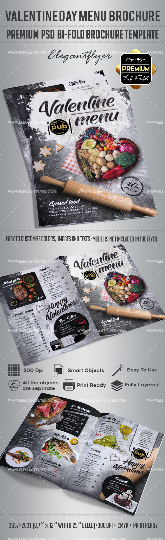 Valentines Day Brochure Template