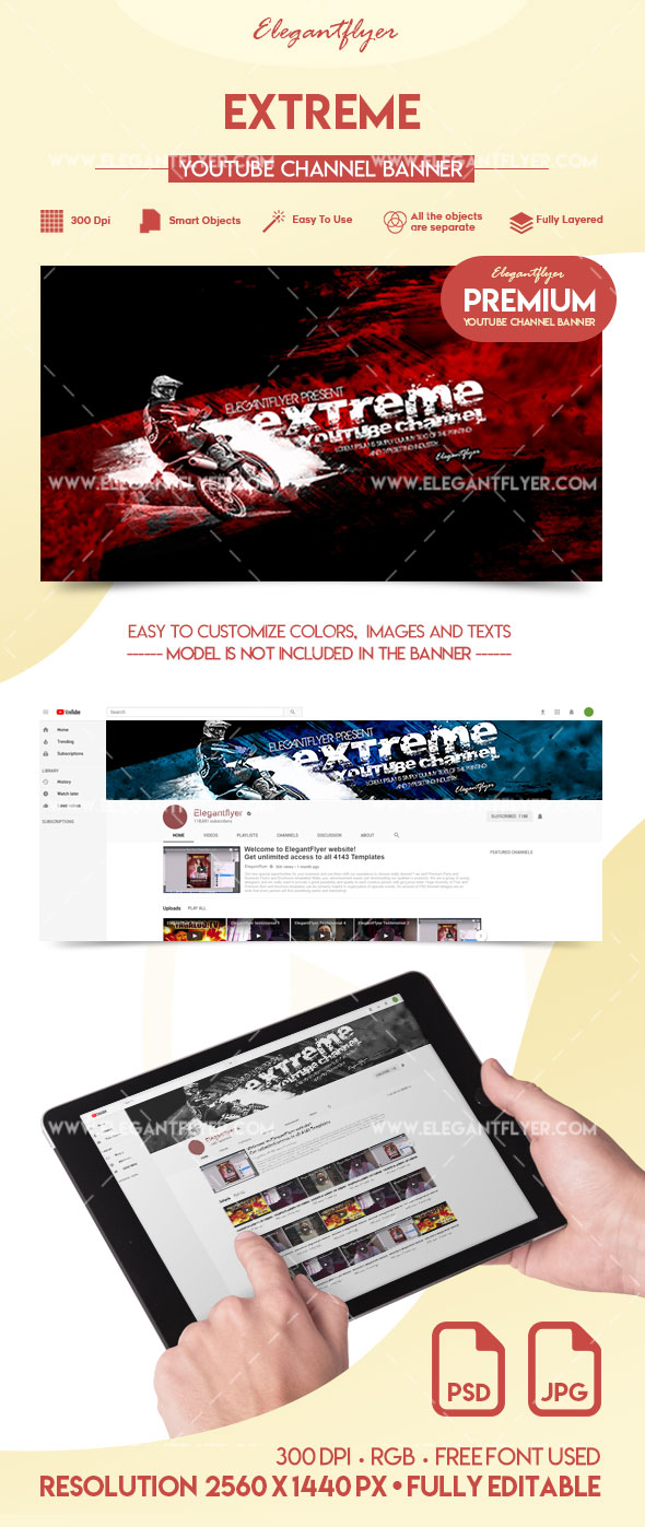 Extreme – Premium YouTube Channel Banner