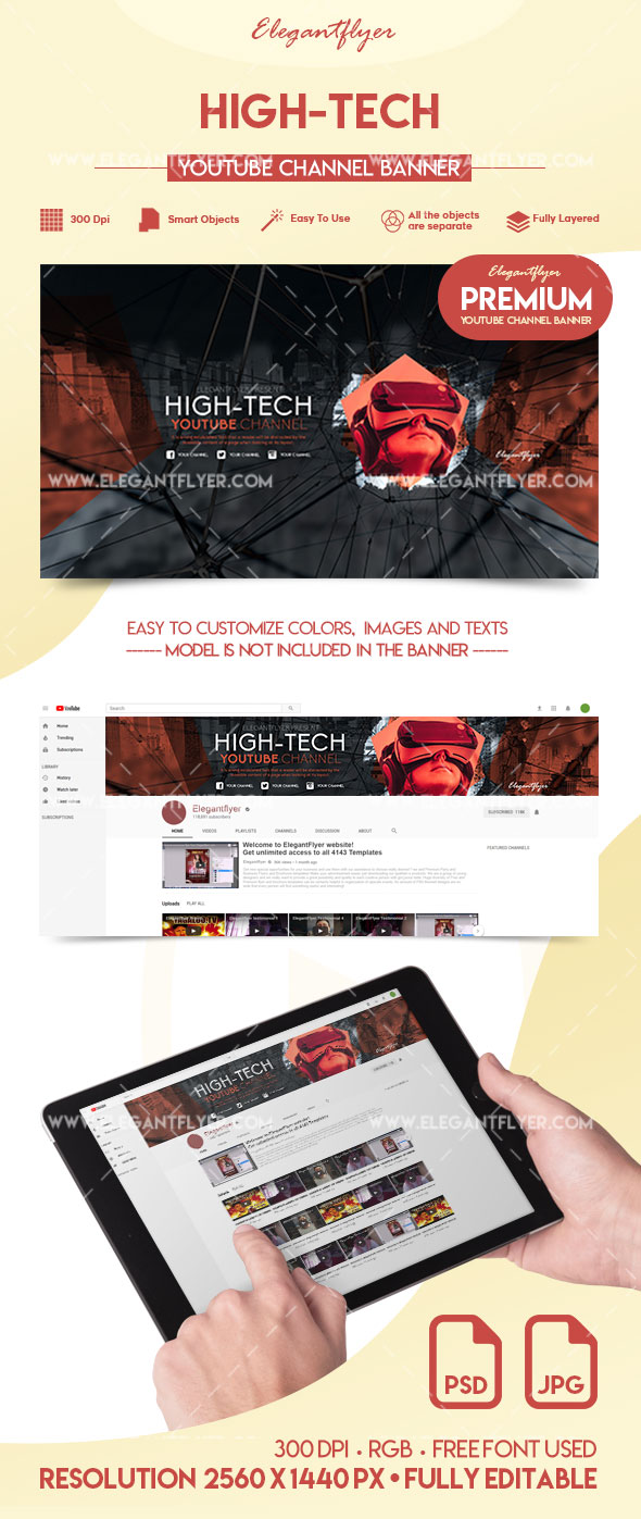 High-Tech – Premium YouTube Channel Banner
