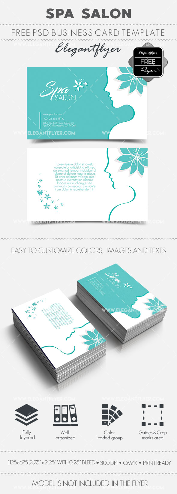 spa salon � free business card templates psd � by elegantflyer