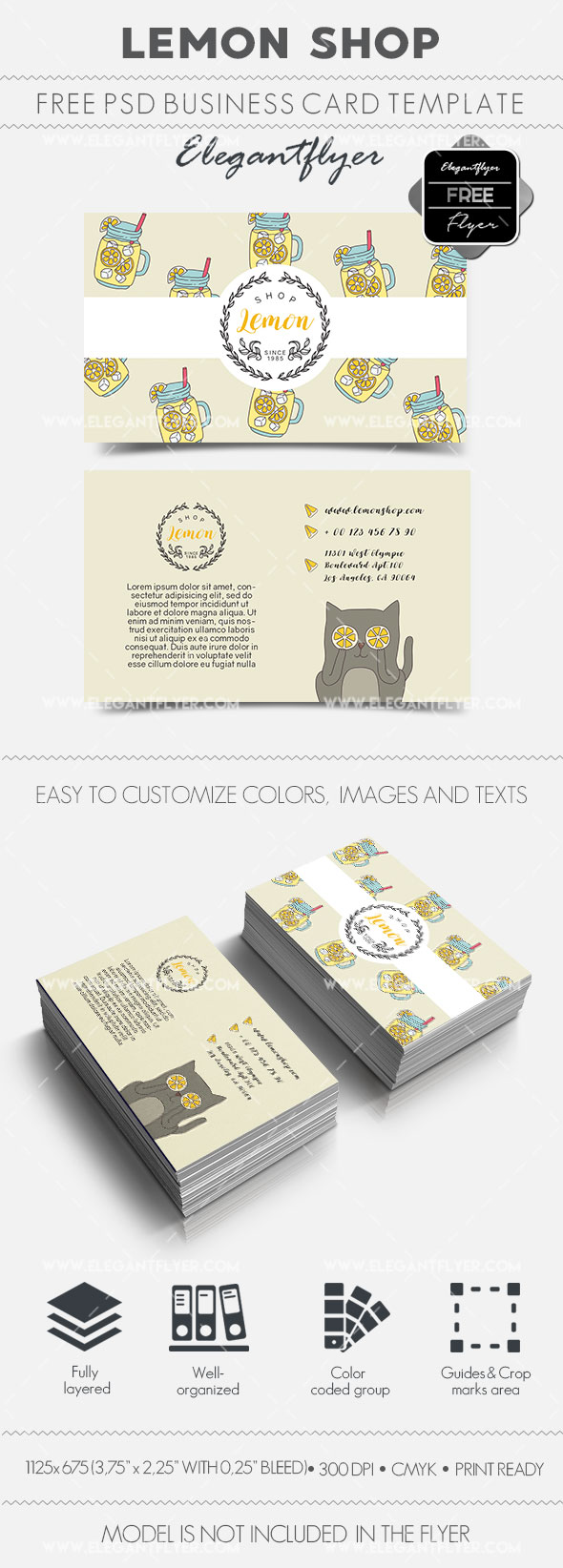 Lemon Shop – Free Business Card Templates PSD