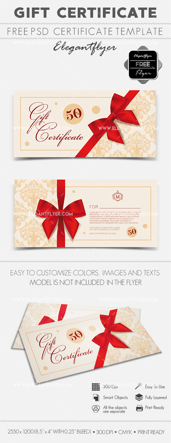 Free Gift Certificate PSD Template