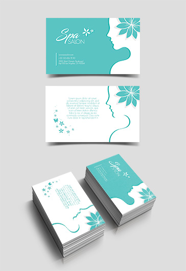 Spa Salon – Free Business Card Templates PSD
