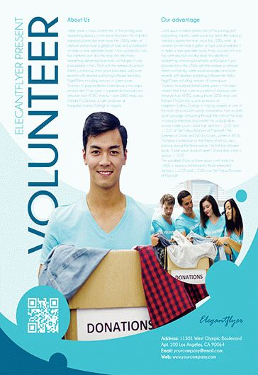 Free Volunteer Flyer Templates For Photoshop By ElegantFlyer - Volunteer flyer template