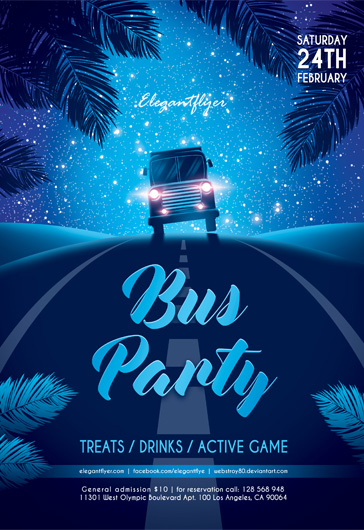 Bus party – Flyer PSD Template