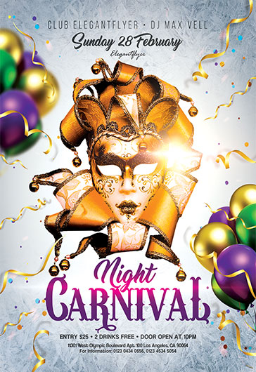 Carnival Night Invite