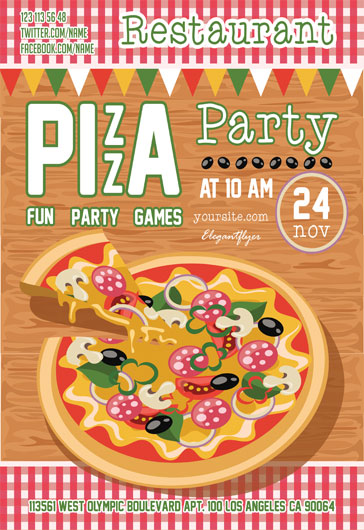 pizza sale flyer template - free psd flyer templates for party event business by
