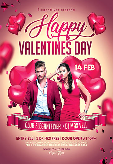 Flyer for Valentines Day