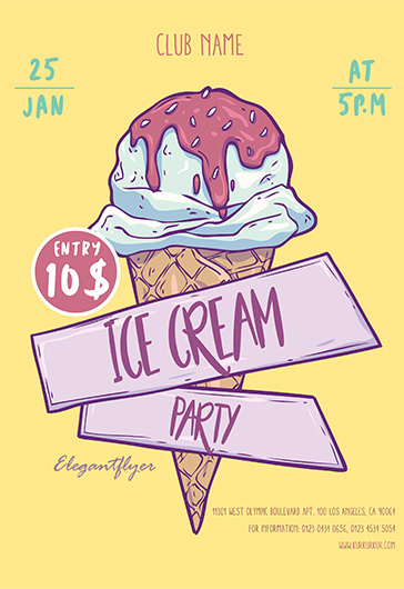 Free Flyer Party for Ice Cream