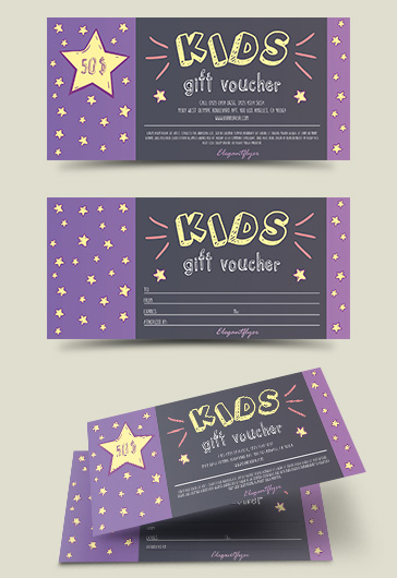 Gift Voucher Template for Kids