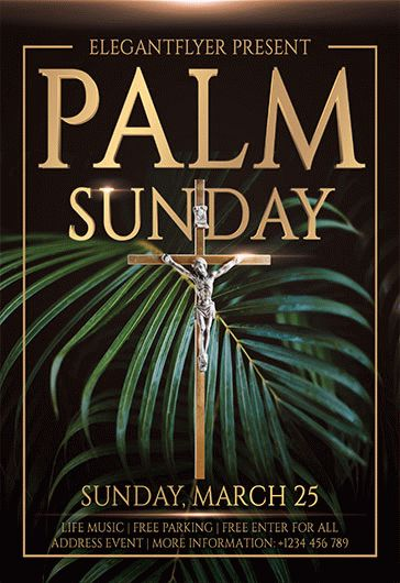 Free Palm Sunday Flyer Template