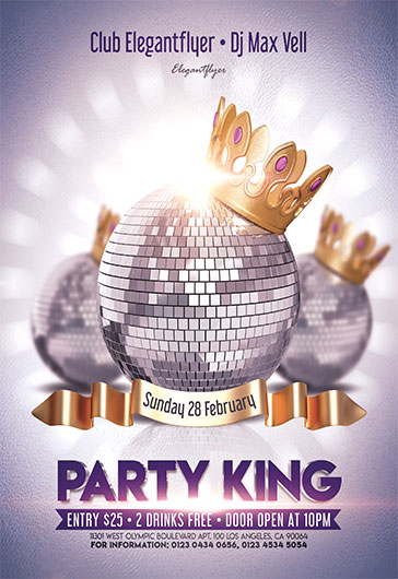 Party King – Flyer PSD Template