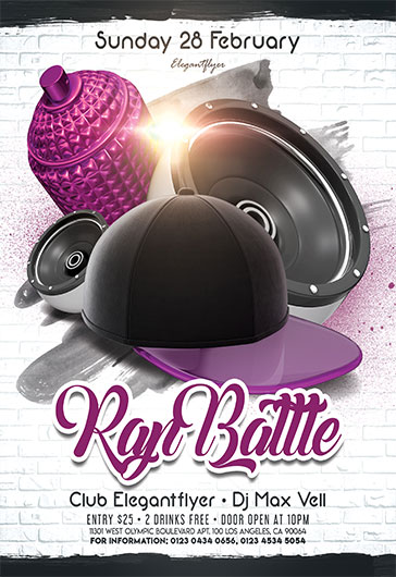 RAP Battle – Flyer PSD Template