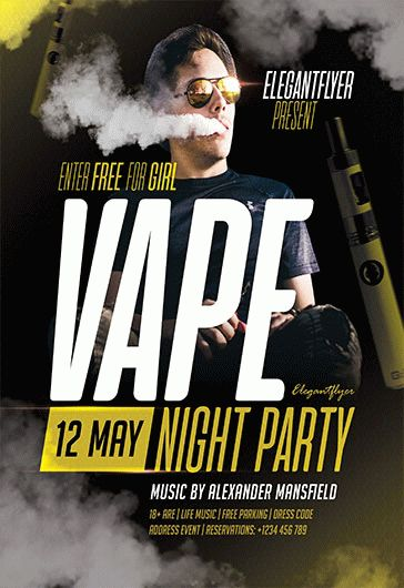 Vape – Flyer PSD Template