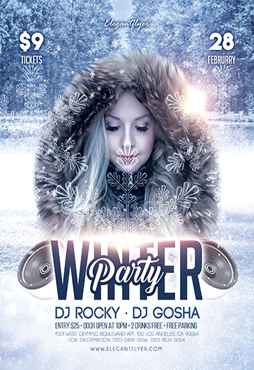 Winter Party 2018 – Flyer PSD Template
