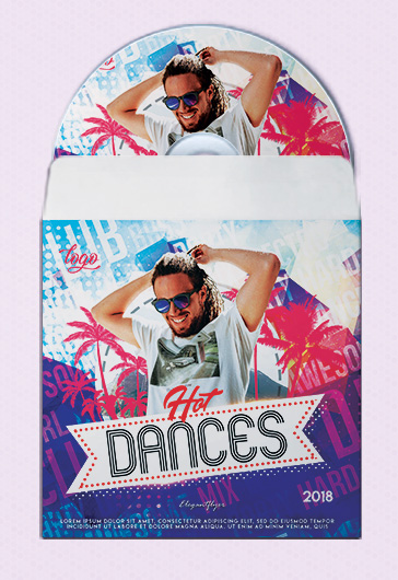 Hot Dances – Premium CD Cover PSD Template